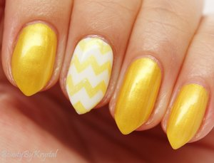 Color Me Monthly is a $7/mon nail polish subscription, one shade per month! This month's shade is named Lemon Battery, sunny, shimmery yellow. http://www.beautybykrystal.com/2014/08/color-me-monthly-august-lemon-battery.html