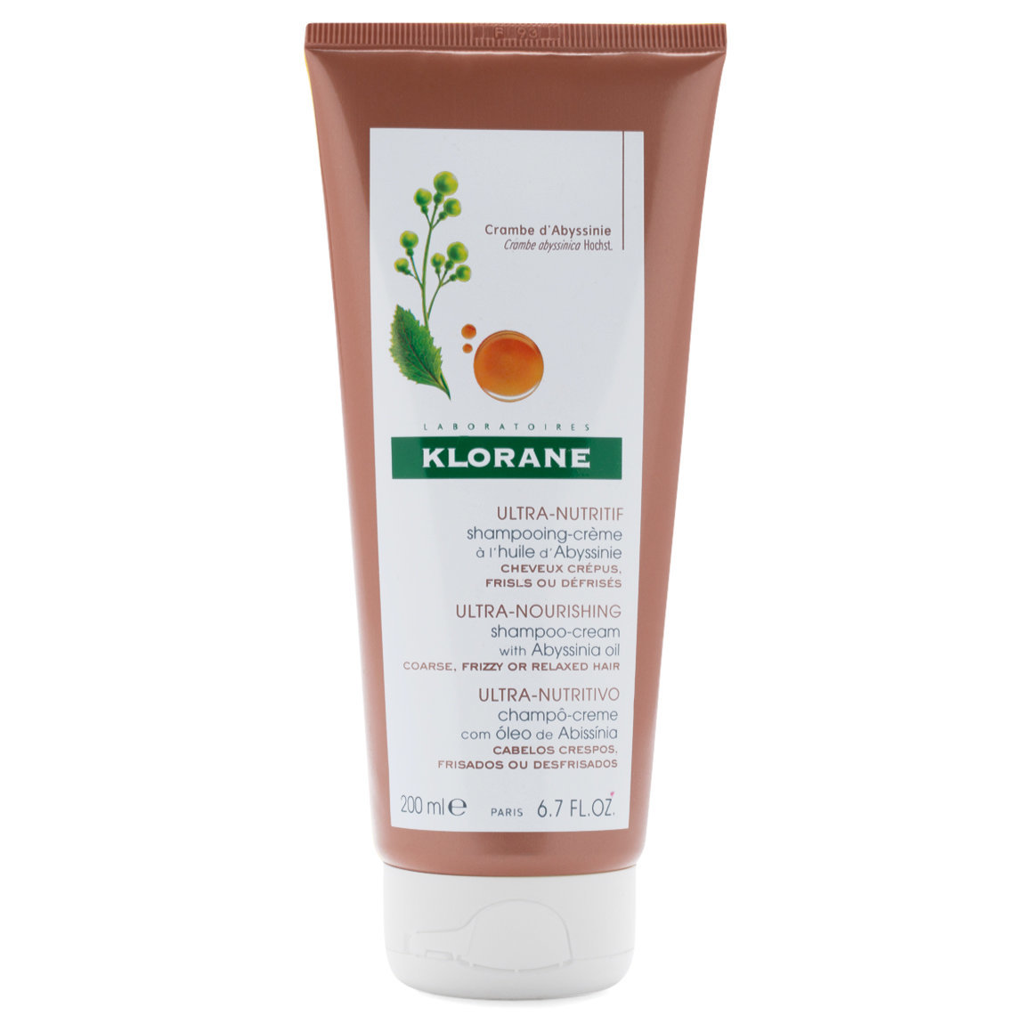 Klorane Shampoo-Cream with Abyssinia Oil product swatch.
