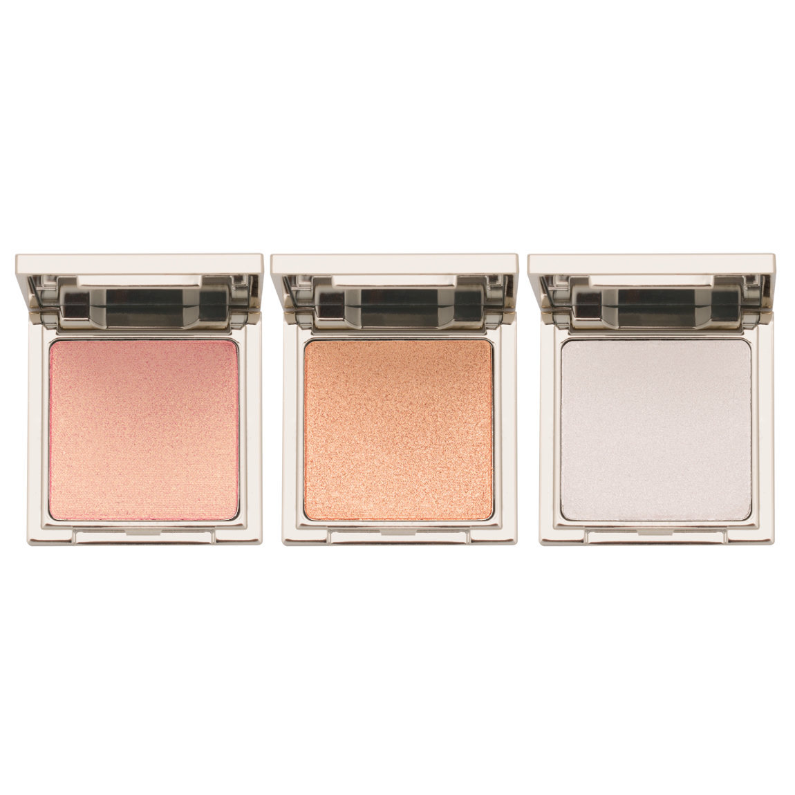 Jouer Cosmetics Powder Highlighter Trio Set Set 2 product swatch.