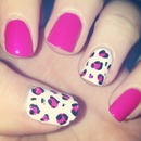 Pink, Black and White Leopard Print!