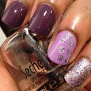 Mish mosh of purple and glitter