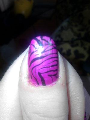 uv pink zebra konad
