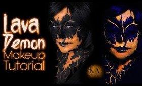 Black Light Lava Demon Halloween Makeup Tutorial