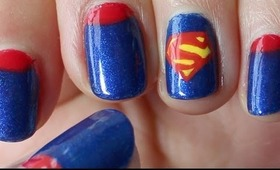 DC Comic Series: Superman Nail Tutorial