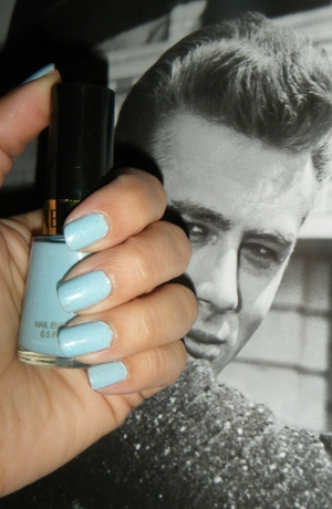 My current fave, Revlon's Blue Lagoon. Keep getting tons of compliments and told it looks like Tiffany Blue.
