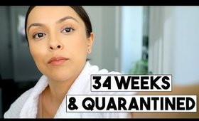 34 WEEKS PREGNANT & QUARANTINED! | GETTING SAD NEWS - TrinaDuhra