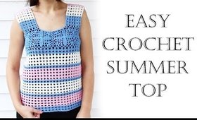 Easy Crochet Summer Top