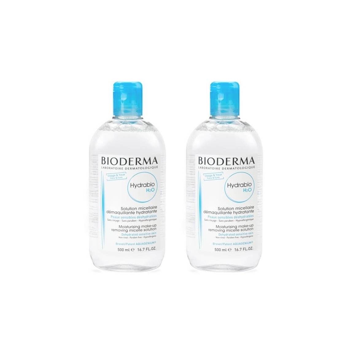 Bioderma Hydrabio H2O 500 ml Duo product smear.
