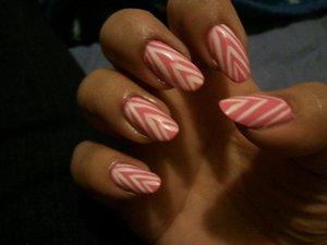 Pink V Stripes