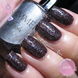 A swatch of Shimmer Polish Jacki. More details and review up on the blog: http://www.alacqueredaffair.com/Shimmer-Polish-Astrid-Jacki-31517338