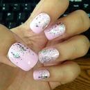 Pale pink+sparkle