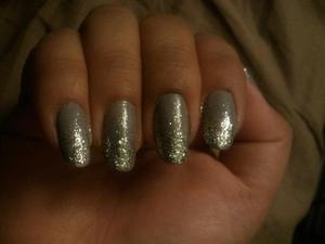 Glittery Silver Gradient