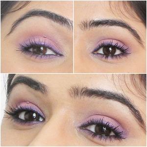 Pink and Purple Eye Makeup Look. For detailed tutorial please see http://vanitytreasures.blogspot.com/2013/06/soft-pink-and-purple-eye-makeup.html