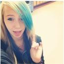 Blue hair.. Ignor the hand..