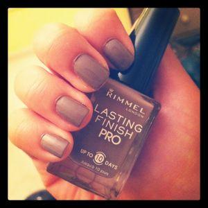 My favorite gray nail polish thus far.