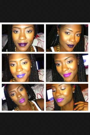 Swatches of some of my purple lipsticks