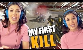 I GOT MY FIRST KILL! Girl Playing Apex Legends PS4