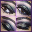 purple gold smokey eye