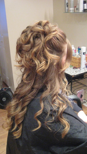Half Up Half Down Updo: Long Hair