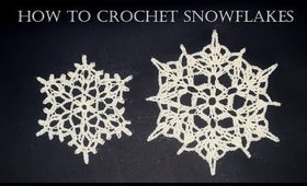How To Crochet Snowflakes | Easy Tutorial