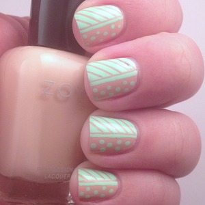 I loved these fun nails using Zoya Taylor from the Naturel Collection.   Check out the post at http://polishmeplease.wordpress.com