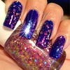 Royal Blue With Multi Chromatic Glitter