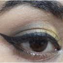 Gold and Black Eye Make up