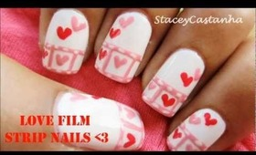 Valentines film strip nails | Tutorial