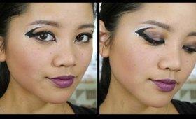 Halloween Makeup Tutorial: Bat Winged Eyeliner