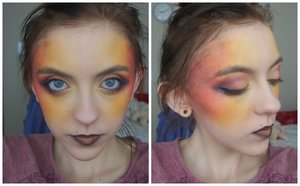 This is my Hunger Games mashed with Catching fire inspired makeup.