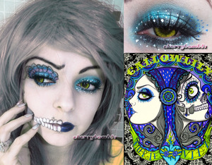 My first Halloween makeup!!! Model photo makeup all me. Makeup look inspired by Callow Lily AMAZING Work;