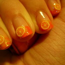 31 Day Nail Challenge: Day 2- Orange- Fruit Sclices