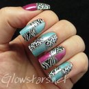 Holo Colour Blocked Leopard and Zebra
