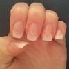 Natural acrylic nails.