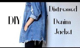 DIY Ripped Bottom Denim Jacket| Easy Tutorial ~ CillasMakeup88