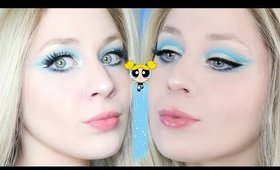 Power Puff Girls Bubbles Blue Cut Crease Eye Makeup Tutorial 2020 | Lillee Jean