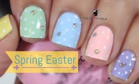 Spring Easter Nails by The Crafty Ninja