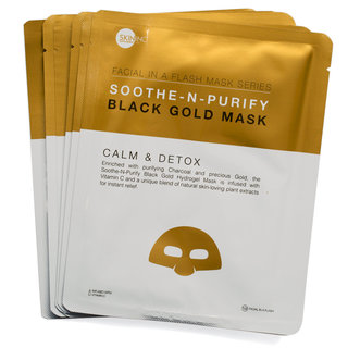 Skin Inc Supplement Bar Facial In-A-Flash Soothe-N-Purify Black Gold Mask