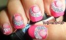 Beautiful Tinsel Rhinestones Nail Art for short nails! / Diseño para uñas cortas