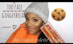 #GIVEAWAY Too Face Gingerbread Palette   Review and Demo  leiydbeauty