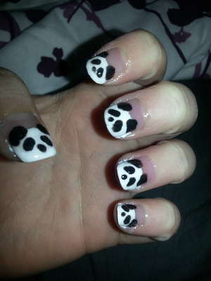 adorable pandas for your nails ^.^