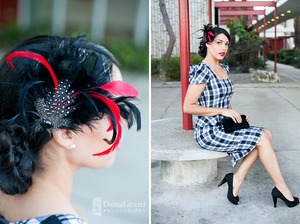 This was a vintage shoot I just finished, see the rest of the photos here http://thedresssychick.com