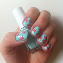 Cute vintage rose nails 2