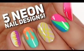 5 PERFECT Ways To Wear NEON Nails!