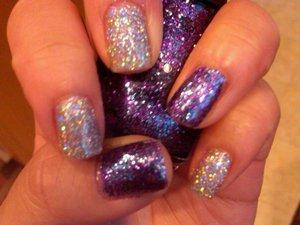 just glitter multi-purple and multi-silver