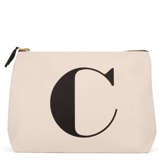 Natural Wash Bag Letter C