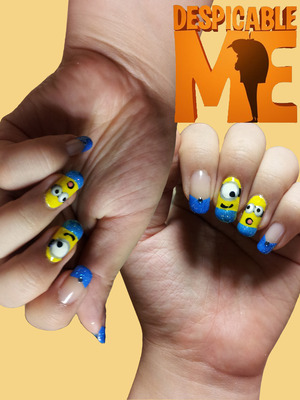 A friend of mine had a profile picture of Despicable Me & I thought it would be a cute idea to paint my nails with this character!