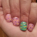 My Spring Colored Nails.