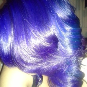 Blue and purple blend