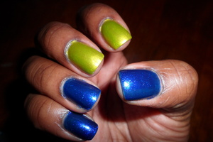 """Colors inspired by """"The Joker"""" from """"Batman"""" NYX: Lime Color Club: Total Mystery"""